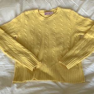 Calypso Cashmere Cable Knit Sweater - XS